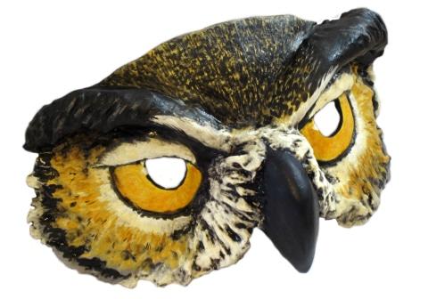 Paper Clay Mask Paper Mache Owl Mask
